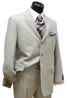 Cream and Grey Stripe Suit
