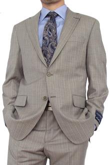 Light Taupe Stripe Suit