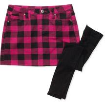 Girls BuffaloPlaid Skirt with Leggings Girls