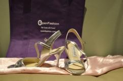 Silver Open Toe Tango Shoes