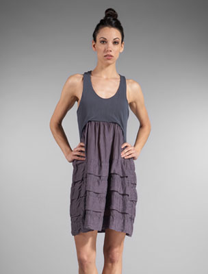 CLU Pleated Skirt Tank Dress in Iron at Revolve Clothing - Free Shipping!