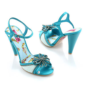 Pabla Satin and Zipper Sandal