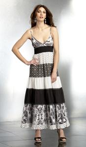 Black/White Peasant Dress