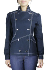 Double-Breasted Military Jacket