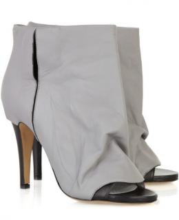 Maison Martin Margiela  Peep-toe leather ankle boots