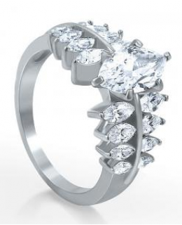 Cubic Zirconia Fashion Right Hand Ring