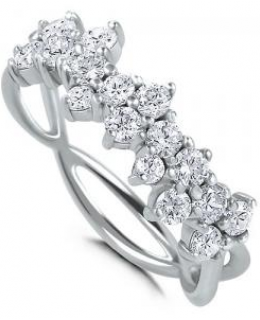 Sterling Silver Cubic Zirconia Fashion Right Hand Ring