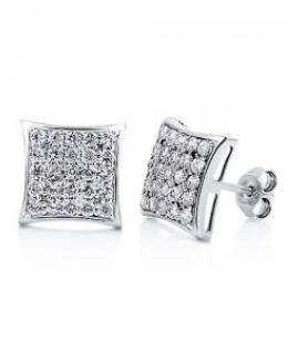 Cubic Zirconia Square Shape Stud Earrings