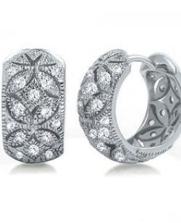 Sterling Silver Huggie Hoop Earrings