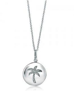 CZ Palm Tree Medallion Pendant
