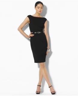 Luxury Clothing: Irina Jersey Belted Dress