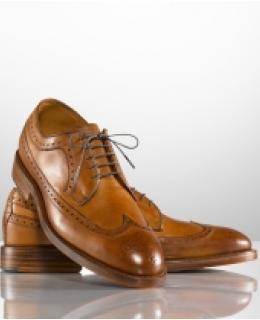 Mens Dress Shoes: Sanderson Burnished Wingtips