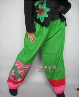 China national style trousers lantern green
