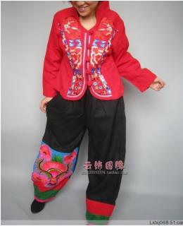 China national style trousers lantern black