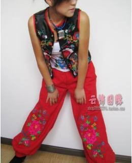 Chinese nationality red trousers