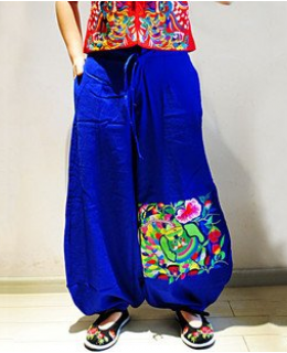 National embroidery trousers