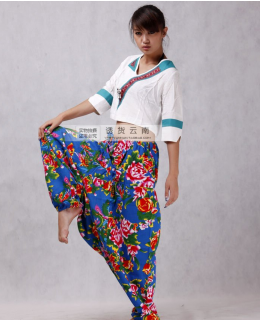Chinese nationality wind ladies' trousers