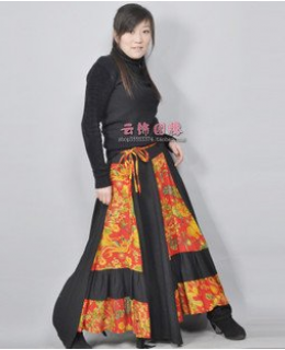 National style nationality long skirt