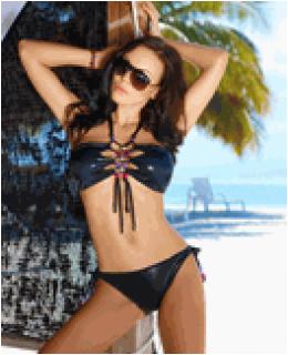 Axami Ibiza Beat Bandeau Top Bikini