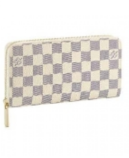 Louis Vuitton Damier Azur Canvas Zippy Wallet N60019-$98