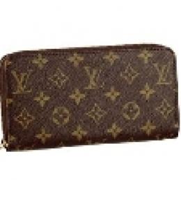Louis Vuitton Monogram Canvas Zippy Wallet M60017 -$98