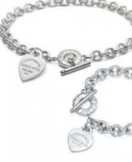 RETURN TO TIFFANY HEART TAG TOGGLE NECKLACE & BRACELET SET