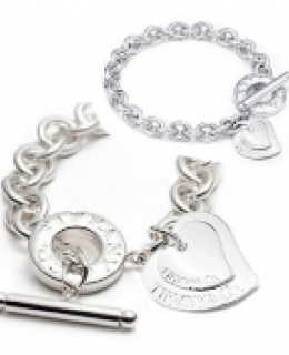 TIFFANY & CO DOUBLE HEART TOGGLE NECKLACE & BRACELET SET