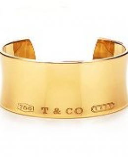 Tiffany & Co.1837 Collection Wide Cuff Bracelet (GOLD)