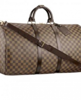 Buy LV DAMIER EBENE KEEPALL 55 SHOULDER STRAP N41414 Duffle -$269
