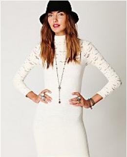 Tunic Dresses- Ginger Long Sleeve High Neck Tunic