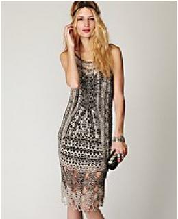 FP Spun- Roaring 20s Crochet Dress