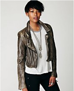 Leather Jackets-  Distressed Biker Jacket