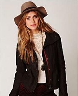 Outerwear- Wax Poplin High Low Jacket