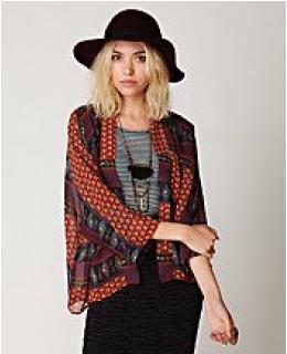 Soft Jackets- Paisley Printed Kimono