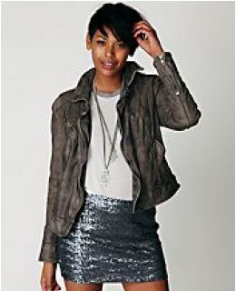 Body Con Mini Skirts- Fever Sequin Bodycon Skirt