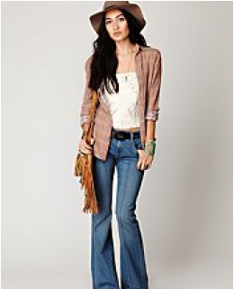 Flare Jeans-  Pintuck Flare