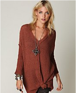 Tunic Sweaters- Genteel V-Neck Tunic