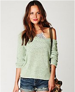Pullover Sweater- Marled Yarn Pullover