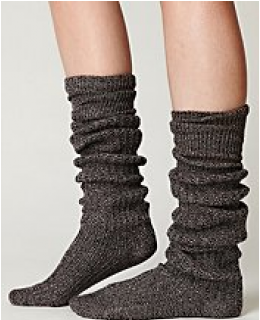 Tall Socks- Rib Slouch Tall Sock