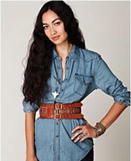Waist Belt- Emma Embroidered Belt