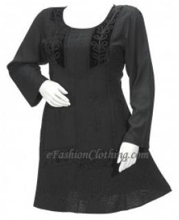 Velvet Lace Gypsy Hippie Julia Mini Dress-Size Small Black