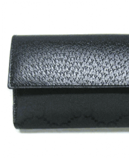 Gucci Black Logo Checkbook Wallet