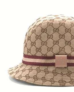 Gucci Pink Web Fedora Hat