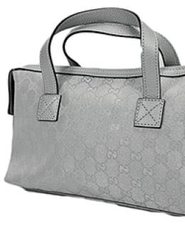 Gucci Silver Boston Bag