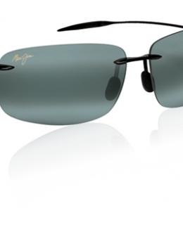 Maui Jim Breakwall 422-02 Gloss Black/Neutral Grey Sunglasses