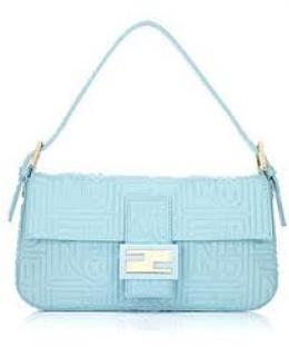 Fendi Baby Blue Leather Baguette