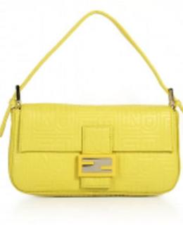 Fendi Baguette Bags Yellow