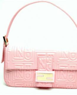 Fendi Pink Leather Baguette