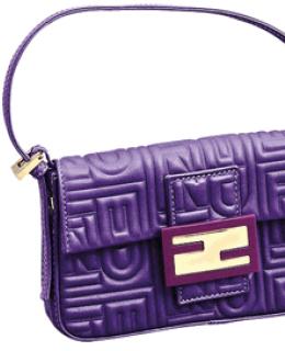 Fendi Purple Baguette Handbags