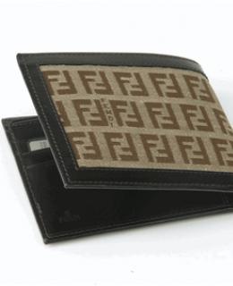Fendi Brown FF Logo Wallet